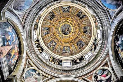 Dekoracja kopuły wg projektu Rafaela, kaplica Chigich, bazylika Santa Maria del Popolo