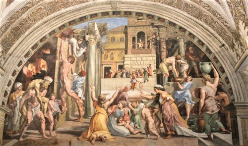 Pożar Borgo, Rafael i jego warsztat, Stanza dell'Incendio di Borgo, pałac Apostolski