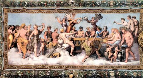 Uczta bogów, Rafael, Loggia di Psiche, willa Farnesina, zdj. Wikipedia
