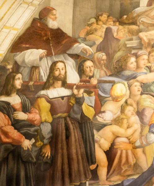Wypędzenie Heliodora ze świątyni, fragment, Rafael, Stanza di Eliodoro, pałac Apostolski