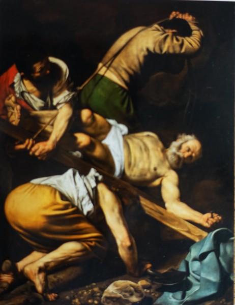 Męczeństwo św. Piotra, Caravaggio, kaplica Cerasich, bazylika Santa Maria del Popolo