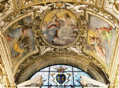 Sklepienie kaplicy Cerasich, fragment, bazylika Santa Maria del Popolo