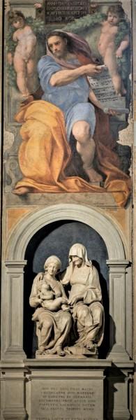 Andrea Sansovino, Święta Anna Samotrzeć, u góry fresk Rafaela - prorok Izajasz, bazylika Sant'Agostino