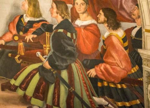Msza bolseńska, fragment, Rafael i jego warsztat, Stanza di Eliodoro, Pałac Apostolski