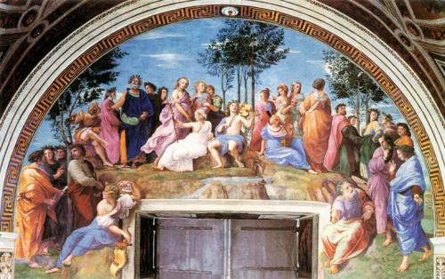 Parnas, Rafael, Stanza della Segnatura, Pałac Apostolski, zdj. Wikipedia