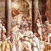 Chrzest cesarza Konstantyna Wlk., warsztat Rafaela, Stanza del Constantino, Pałac Apostolski, zdj. Wikipedia