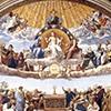 Dysputa nad Świętym Sakramentem, Rafael, Stanza della Segnatura, Pałac Apostolski, zdj. Wikipedia