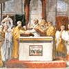 Przysięga papieża Leona III, Rafael i jego warsztat, Stanza dell'Incendio di Borgo, Pałac Apostolski, zdj. Wikipedia
