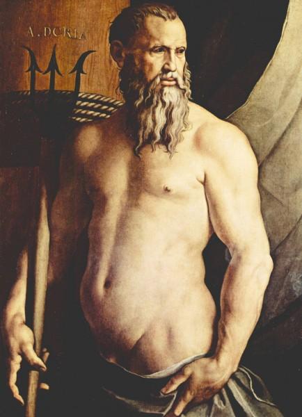 Bronzino, Andrea Doria jako Neptun, Pinacoteca di Brera, Milano, zdj. Wikipedia