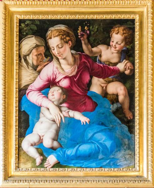 Bronzino, Madonna z Dzieciątkiem, świętym Janem Chrzcicielem i świętą Anną, Galleria Colonna