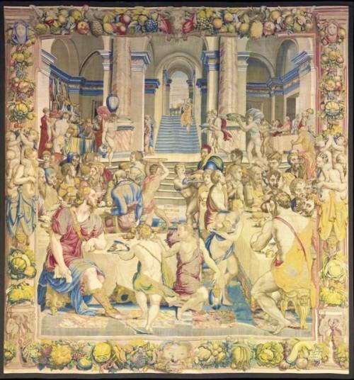Uczta Józefa z braćmi, jeden z gobelinów wg projektu Bronzina, Palazzo Quirinale, zdj. Wikipedia