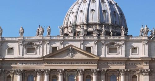 Widok fasady bazyliki św. Piotra, fragment