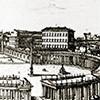 Niezrealizowany projekt portyku zamykającego kolumnadę na placu św. Piotra, proj. Gian Lorenzo Bernini, zdj. Wikipedia