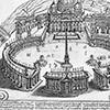 Projekt portyku zamykającego kolumnadę Berniniego na placu św. Piotra, zdj. Wikipedia