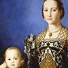 Portret Eleonory di Toledo z synem Giovannim, Bronzino, Galleria Uffizi (Florencja), zdj. Wikipedia