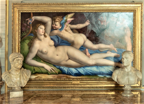 Wenus, Kupidyn i Satyr, Bronzino, Galleria Colonna, Palazzo Colonna