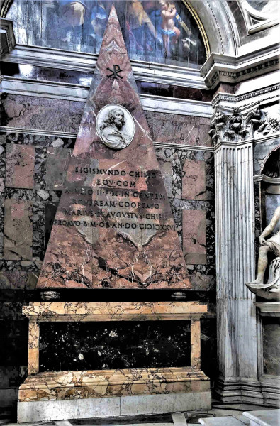 Kaplica Chigich, pomnik nagrobny Sigismunda Chigiego, bazylika Santa Maria del Popolo