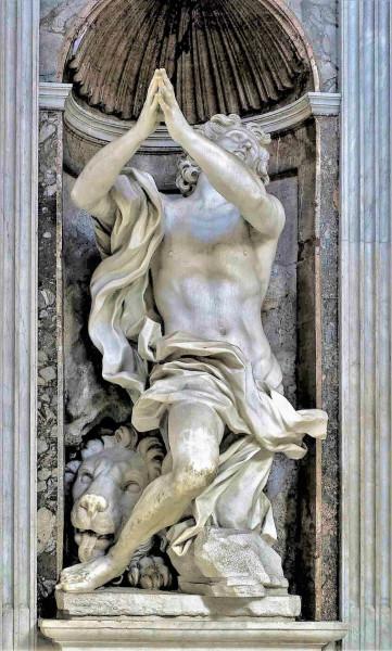 Kaplica Chigich, posąg Daniela, Gian Lorenzo Bernini, bazylika Santa Maria del Popolo