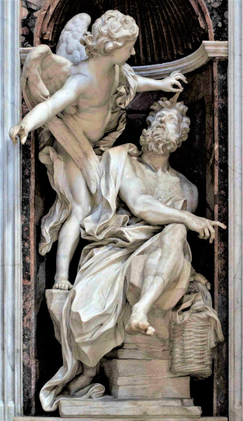 Kaplica Chigich, posąg Habakuka, Gian Lorenzo Bernini, bazylika Santa Maria del Popolo