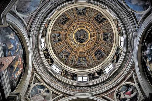 Kopuła w kaplicy Chigich wg projektu Rafaela, bazylika Santa Maria del Popolo
