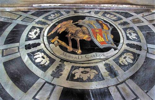 Marmurowa posadzka w kaplicy Chigich, Gian Lorenzo Bernini, bazylika Santa Maria del Popolo