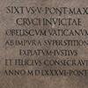 Obelisk Vaticano, inskrypcja głosząca chwałę papieża Sykstusa V