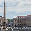 Obelisk Vaticano, w tle via della Conciliazione