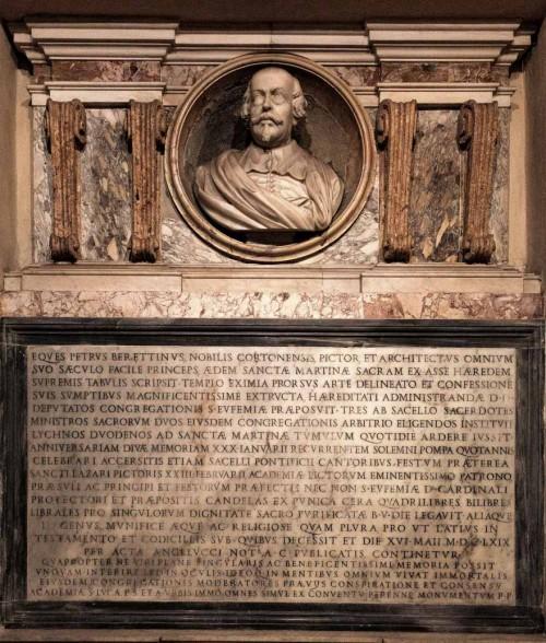 Epitafium poświęcone Pietro da Cortonie w kościele Santi Luca e Martina