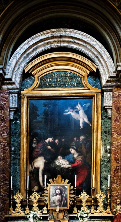 Pietro da Cortona, Adoration of the Shepherds, Church of San Salvatore in Lauro