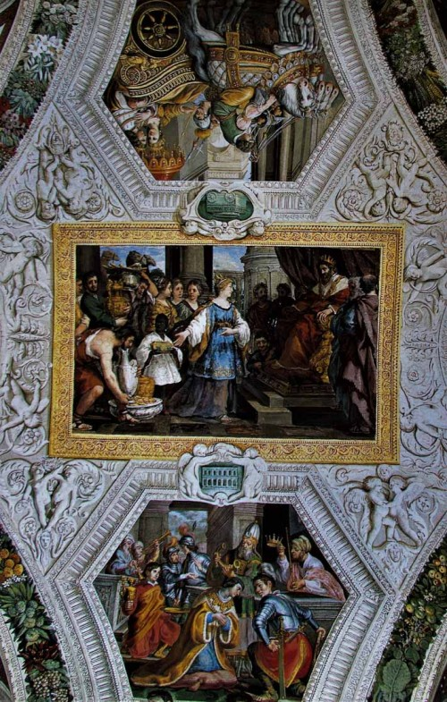 Pietro da Cortona, painting decorations – Salomon with the Queen of Sheba, Palazzo Mattei di Giove