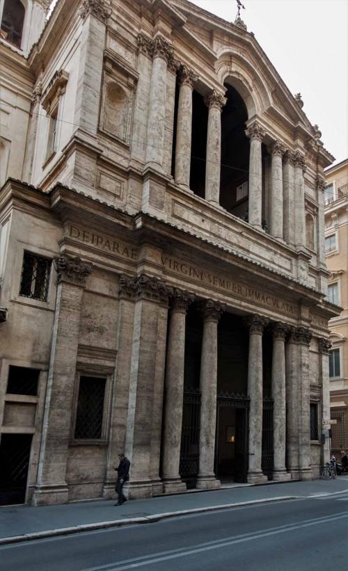 Pietro da Cortona, fasada bazyliki Santa Maria in Via Lata przy via del Corso