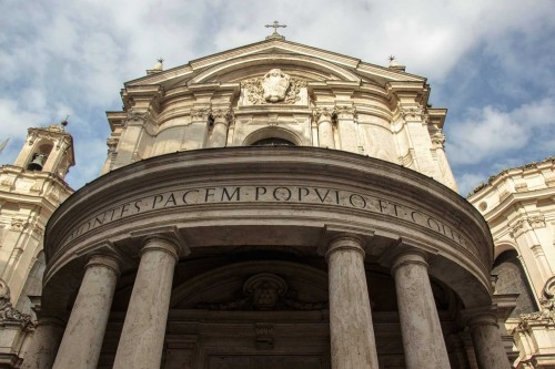 Pietro da Cortona, façade of the Church of Santa Maria della Pace