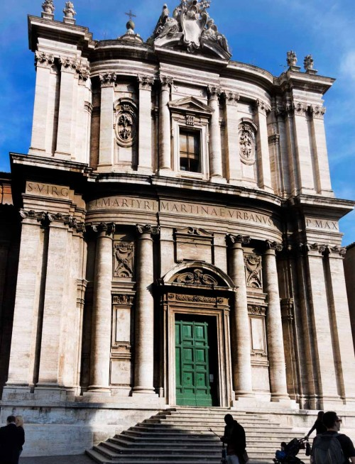 Pietro da Cortona, fasada kościoła Santi Luca e Martina