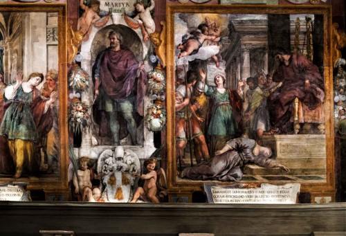Pietro da Cortona, freski ukazujące męczeństwo św. Bibiany w kościele Santa Bibiana