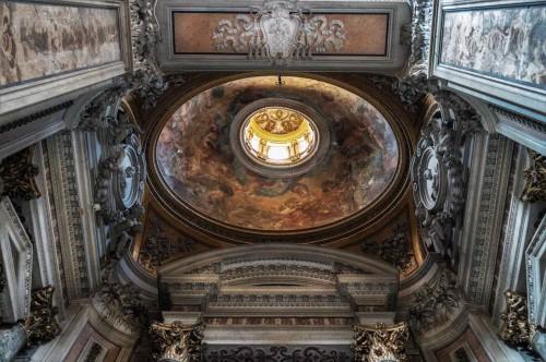 Pietro da Cortona, kopuła kaplicy Gavottich w kościele San Nicola da Tolentino, wykonanie C. Ferri