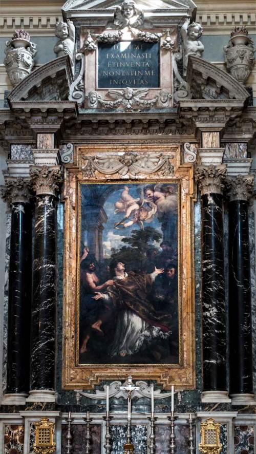 Pietro da Cortona, Męczeństwo św. Wawrzyńca, ołtarz główny kościoła San Lorenzo in Miranda