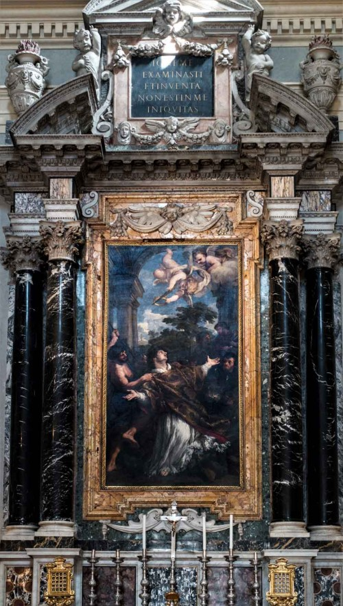 Pietro da Cortona, The Martyrdom of St. Lawrence main altar of the Church of San Lorenzo in Miranda