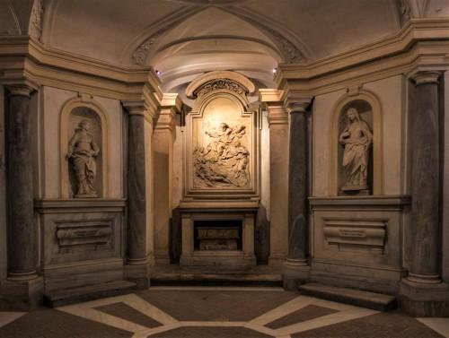 Pietro da Cortona, projekt - krypta kościoła Santi Luca e Martina