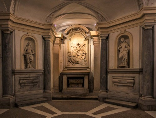 Pietro da Cortona, design – crypt of the Church of Santi Luca e Martina