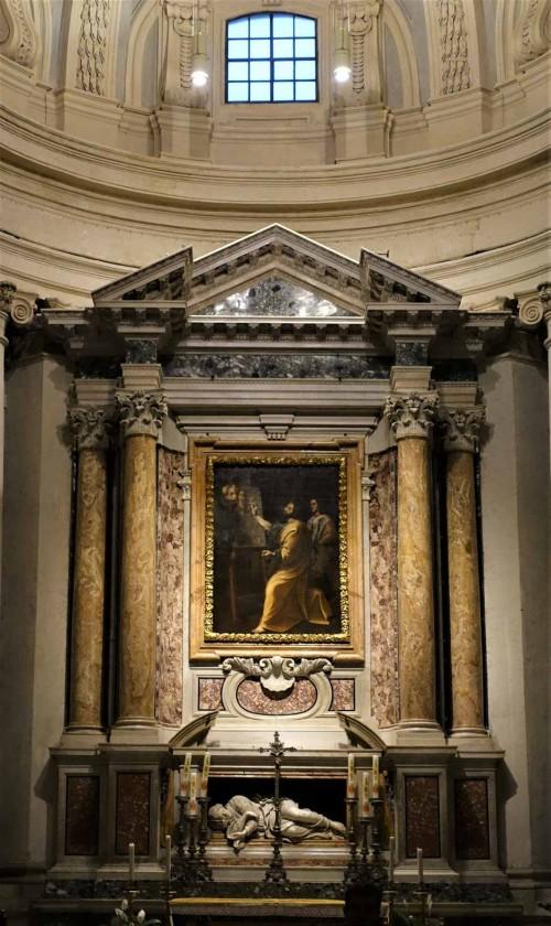 Pietro da Cortona, projekt ołtarza głównego w kościele Santi Luca e Martina