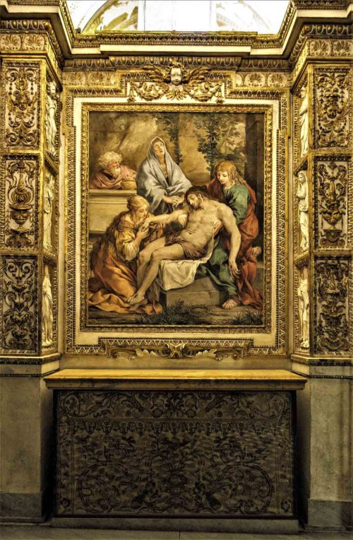 Pietro da Cortona, scene of the Lamentation, Chapel of Urban VIII, papal apartments, Musei Vaticani