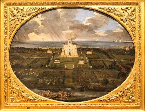 Pietro da Cortona, weduta posiadłości rodu Sacchettich - villa Sacchetti a Castelfusano, Museo Nazionale d'Arte Antica, Palazzo Barberini
