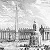 Fontanny na Palcu św. Piotra, Giuseppe Vasi, Delle magnificenze di Roma antica e moderna, 1747, zdj. Wikipedia
