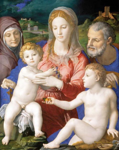 Bronzino, Święta Rodzina z Janem Chrzcicielem oraz św. Anną, Kunsthistorisches Museum, Wien, zdj. Wikipedia