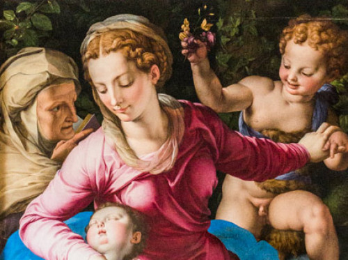 Madonna ze św. Anną, Chrystusem i Janem Chrzcicielem, fragment, Bronzino, Galleria Colonna - Palazzo Colonna