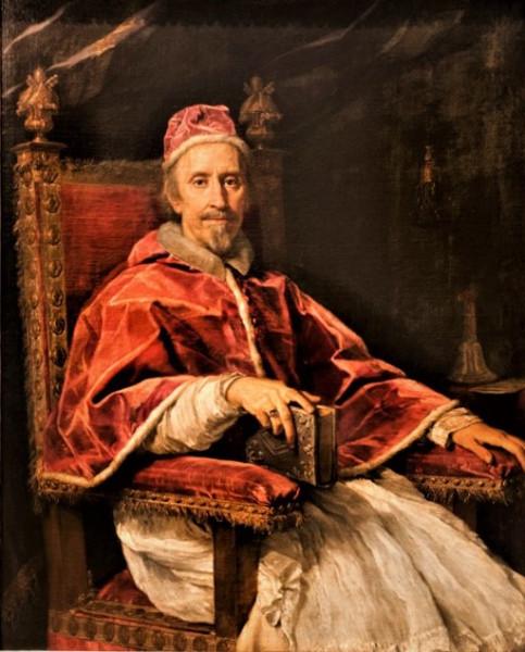 Carlo Maratti, Portret papieża Klemensa IX, Pinacoteka Vaticana - Musei Vaticani