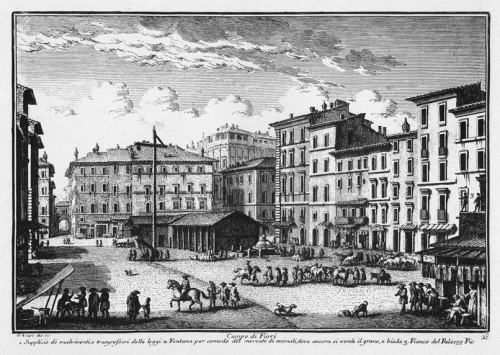 Campo de' Fiori, Giovanni Vasi, zdj. Wikipedia