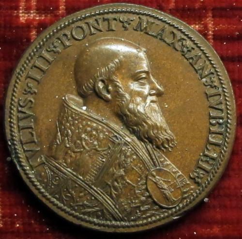 Juliusz III, medal z portretem papieża, ok. 1550 roku, zdj. Wikipedia