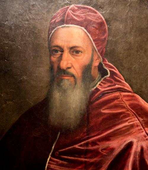 Portret papieża Juliusza III, fragment, Scipione Pulzone, Galleria Spada