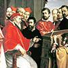 Michał Anioł prezentuje papieżowi Juliuszowi III model Palazzo del Tribunale di Ruota, Fabrizio Boschi, zdj. Wikipedia
